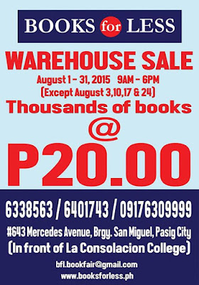 Books for Less Warehouse sale, book sale, Pasig book sale, La Consolacion College, warehouse sale