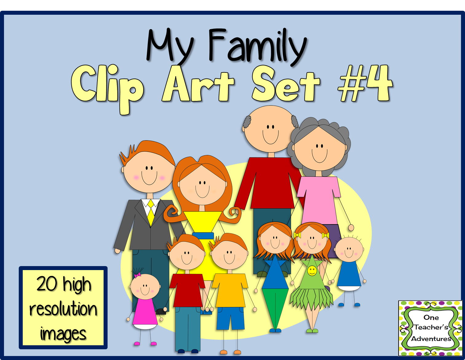 http://www.teacherspayteachers.com/Product/My-Family-Clip-Art-Set-4-1393382