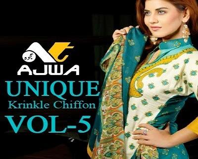 Ajwa Unique Crinkle Chiffon Collection 2014