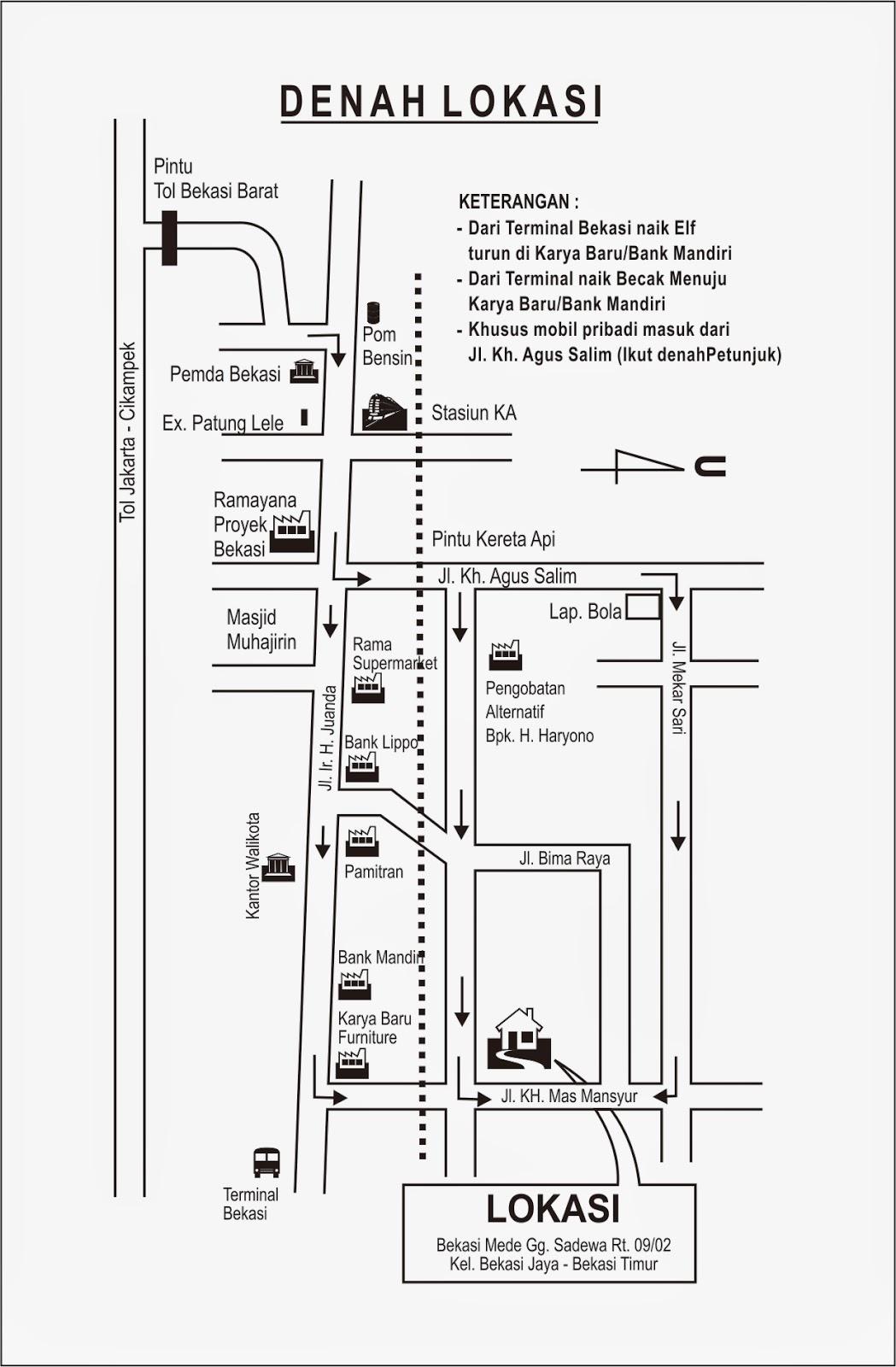 Denah Kampung Bekasi Mede
