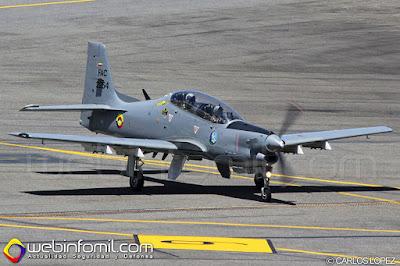 AT-27M Tucano modernizado de la Fuerza Aérea Colombiana.
