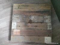 Plataforma giratoria de madera de palet, enredandonogaraxe.com