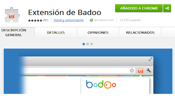 La nueva extensión de Badoo para Google Chrome