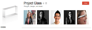 Google + page for Google glass project