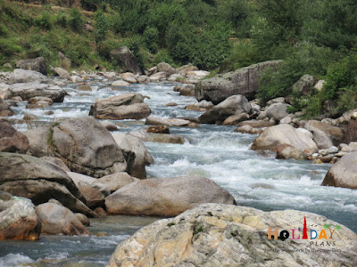 River flowing near our guesthouse