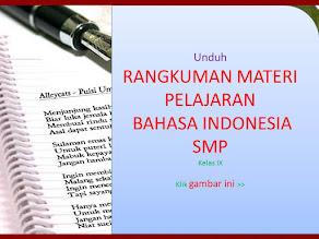 Lihat Rangkuman Materi B. Indonesia SMP