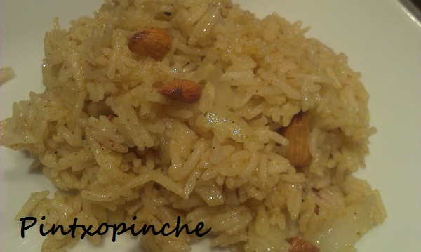 ARROZ CON ALMENDRAS Y CURRY SIN GLUTEN