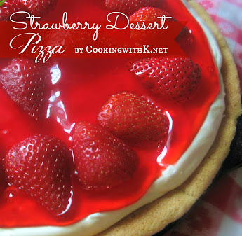 Easy Strawberry Dessert Pizza