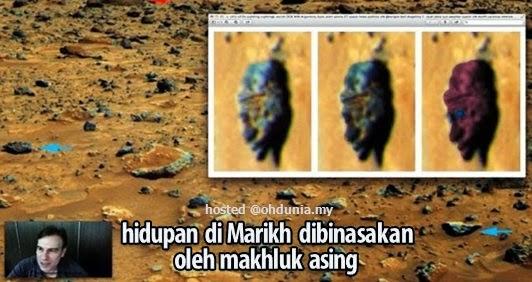 Saintis dakwa hidupan di planet Marikh dibinasa oleh makhluk asing