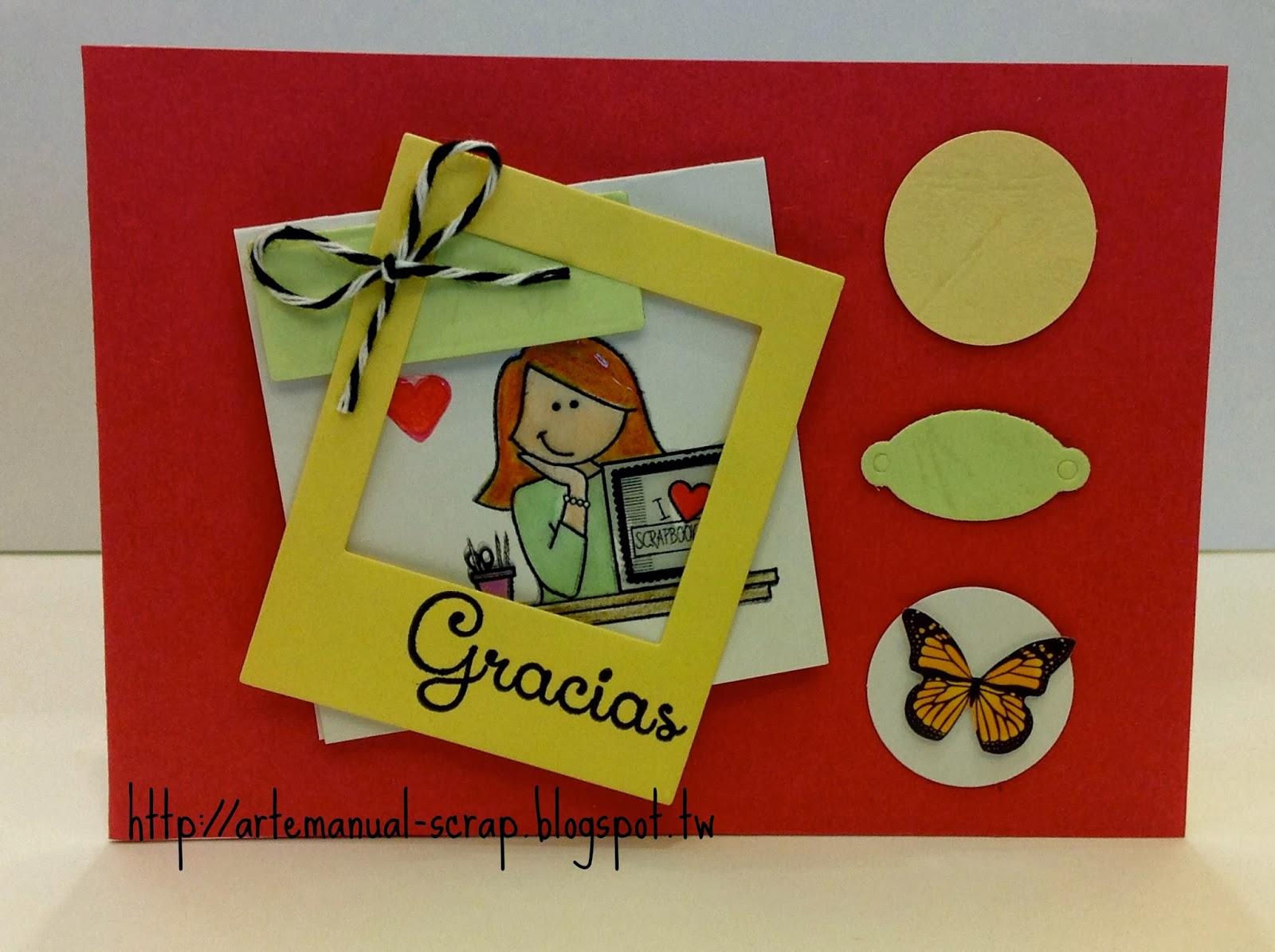 Patsy 39 s scrapbooking tarjeta de agradecimiento dia - Como realizar tarjetas navidenas ...