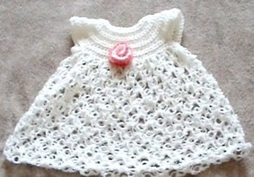 Tiny Blossoms Christening Gown - $7.49 : Crochet Garden!, Boutique
