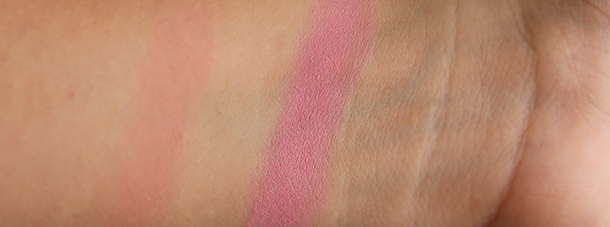 mac pink swoon blush review swatch nc30