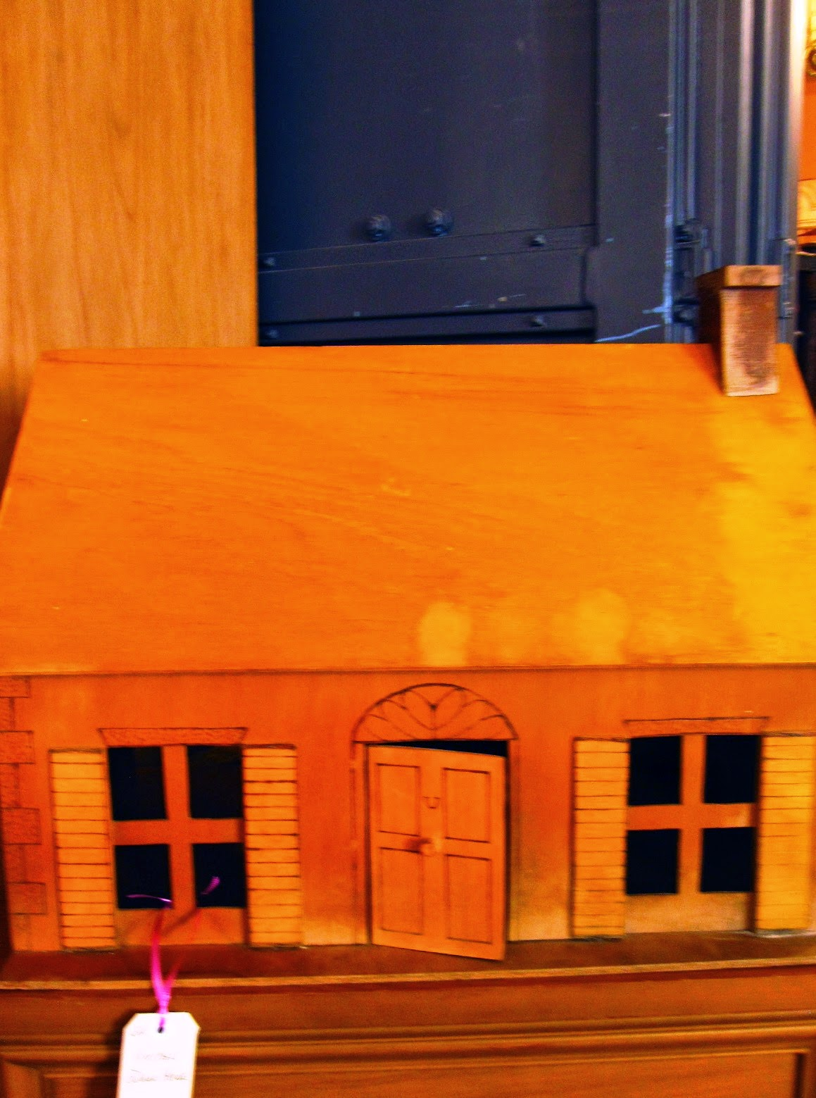 Vintage wooden dolls house.