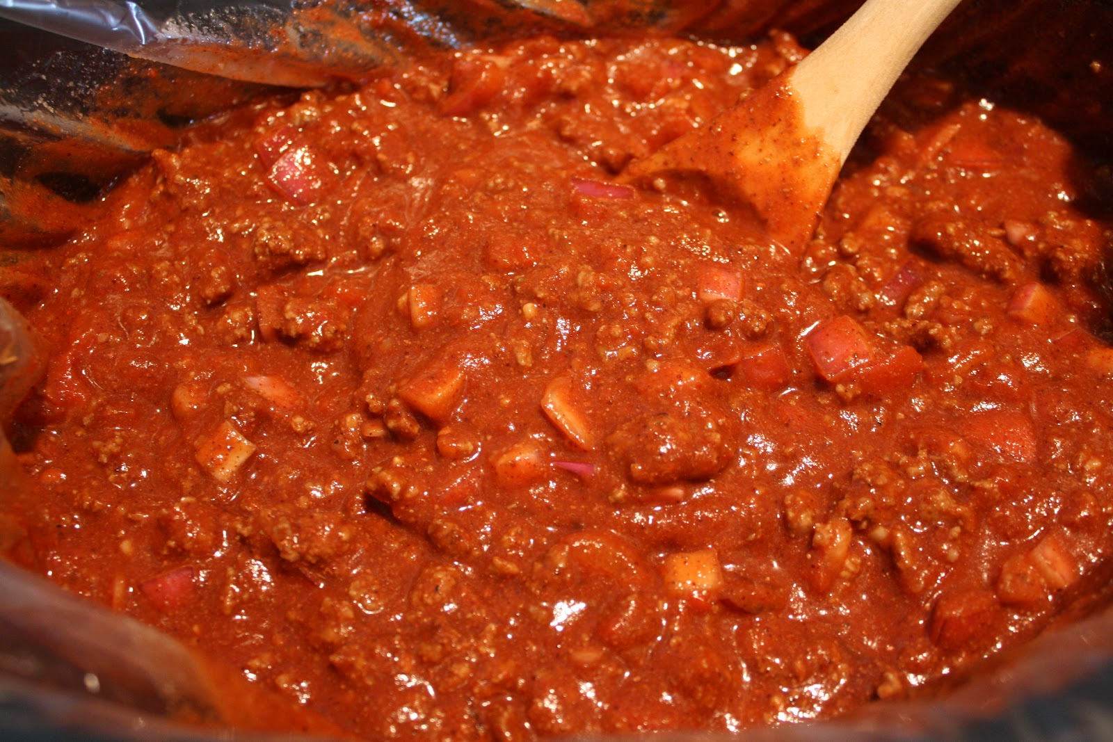 ... chili over pasta and top with shredded cheese for a perfect 3-way