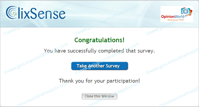 Survey completed on daily survey router | Clixsense surveys
