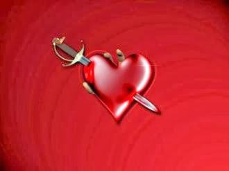 كيف تنسى حبيبك - قلب مجروح مكسور مضورب بسكين - broken heart knife