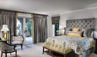 Dormitorio en gris y plata