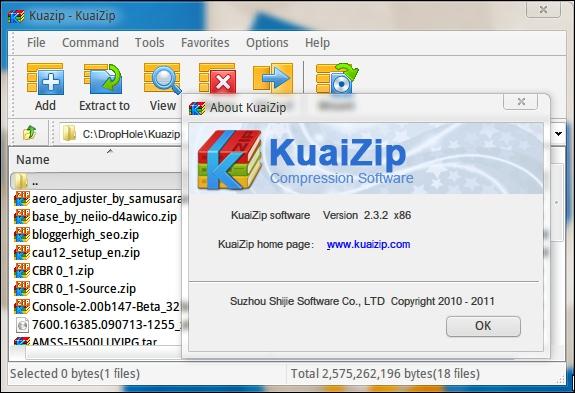 Interface KuaiZip