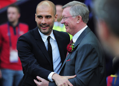 Pep Guardiola+Sir Alex Ferguson 2012