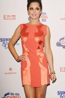 Cheryl Cole Orange Minidress
