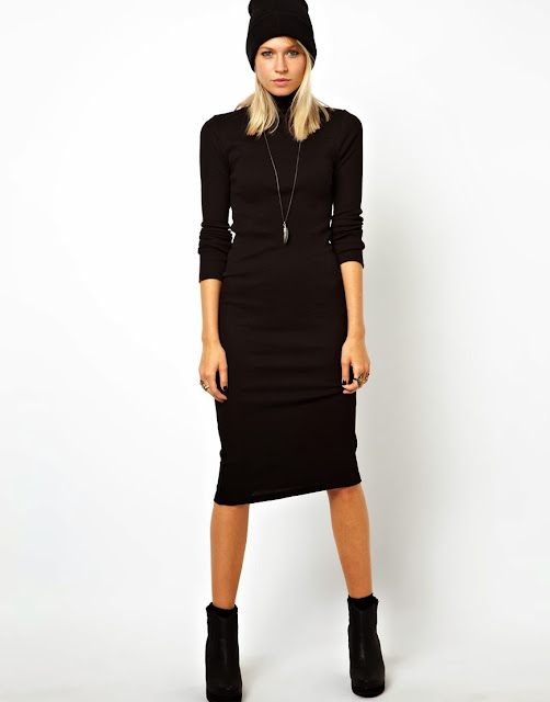 polo neck dress