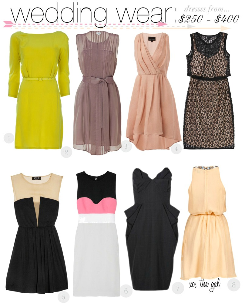dresses to wear to wedding