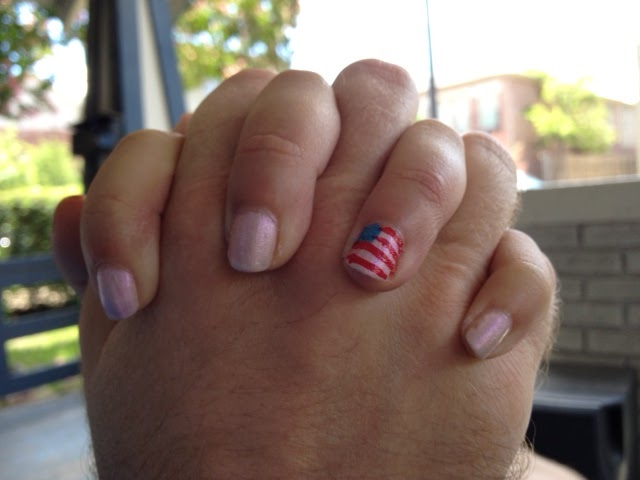 Picture of Girls American Flag Nails