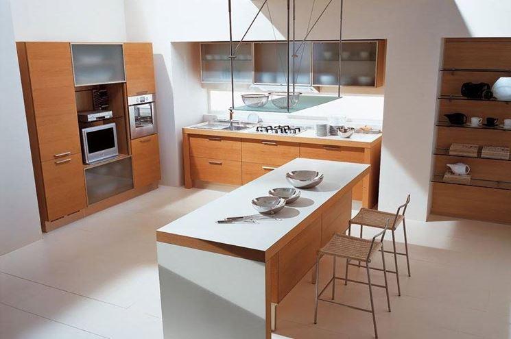 Cocinas con muebles de madera colores en casa - Cocina moderna madera ...