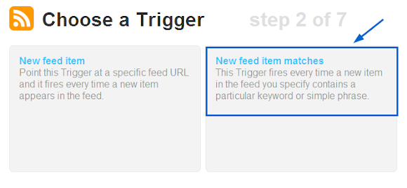 ifttt: new RSS триггер