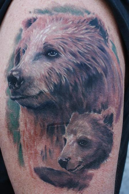 Grizzly Bear Tattoo By Tim Victim Pangburnjpg