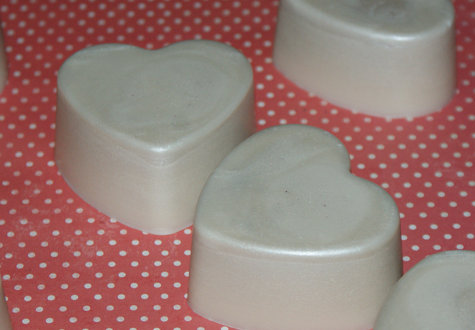 Homemade Valentine's Day Heart Lotion Bars - DIY Solid Lotion Bars Recipe for Valentine's Day Gifts