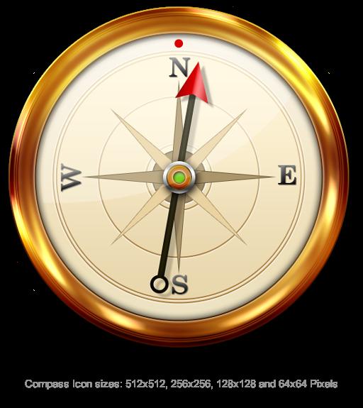 Compass Icon PSD