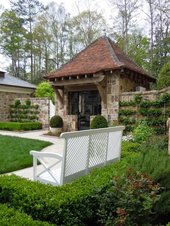The zhush paradise is a walled garden for Brick garden shed designs
