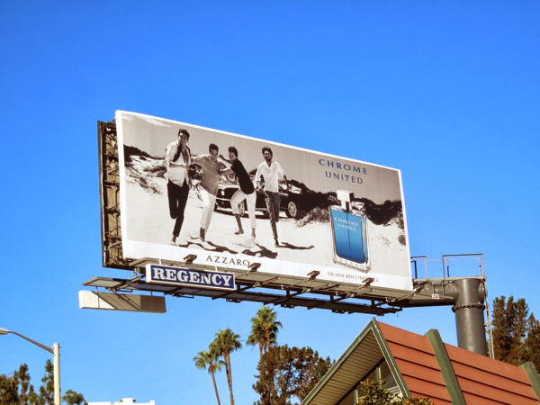 Chrome United Azzaro fragrance billboard