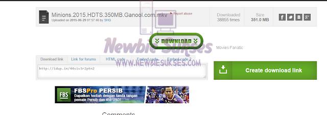 Setelah mengklik link tersebut anda harus klik Create Download Link, dan tunggu proses nya. Penampakan :