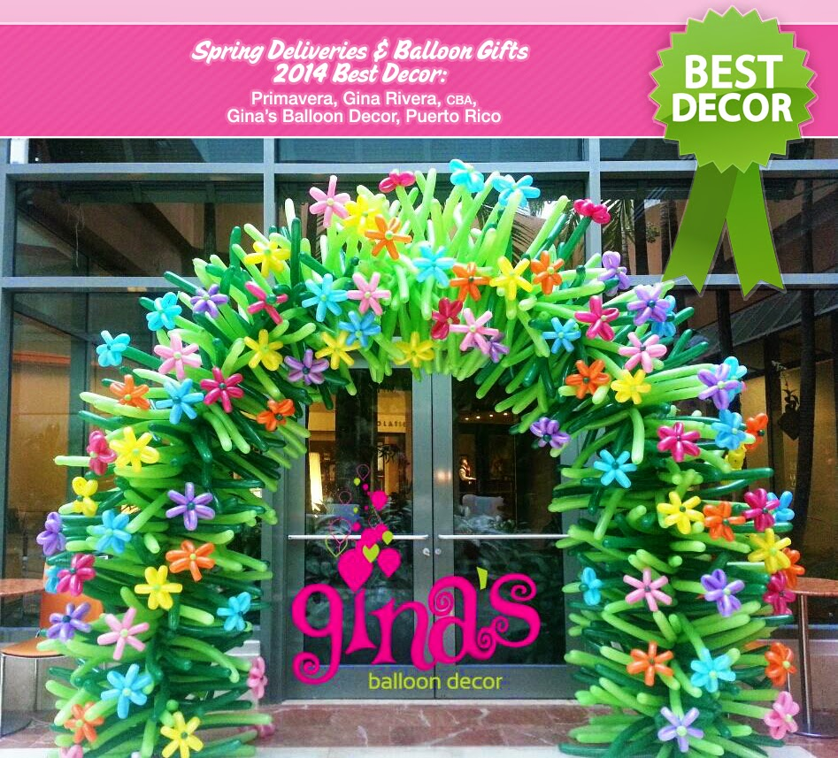 The very best balloon blog the spring contest and the for Acanthus decoration puerto rico