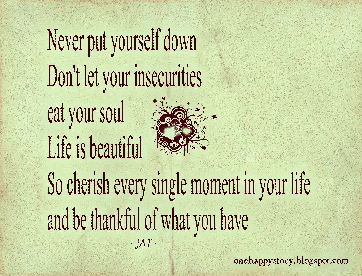 never put yourself down motivational quotes
