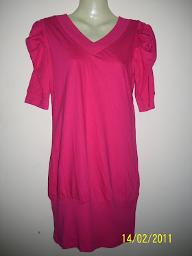 Pink Long Shirt With Puff - FR 44