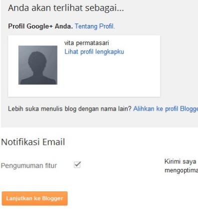 pilih profil blogger