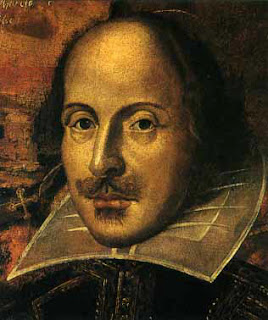 painted image of Shakespeare