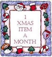 One Christmas Item A Month