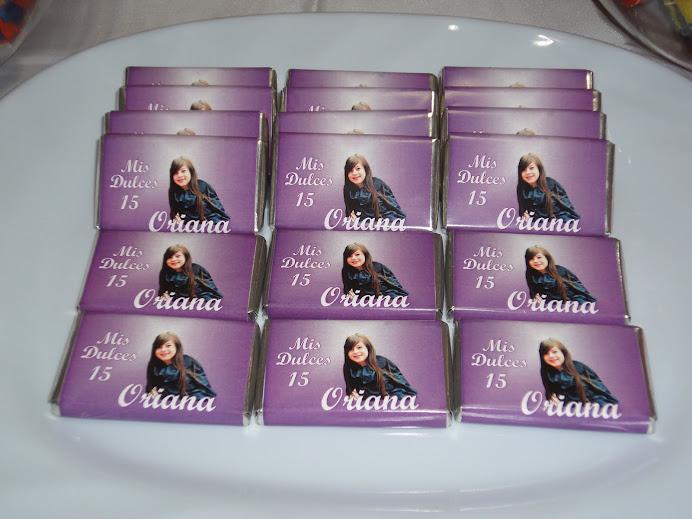 Chocolates Personalizados 15 años