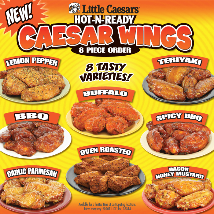 all things wings wing reviews little caesar 39 s pizza caesar wings. Black Bedroom Furniture Sets. Home Design Ideas