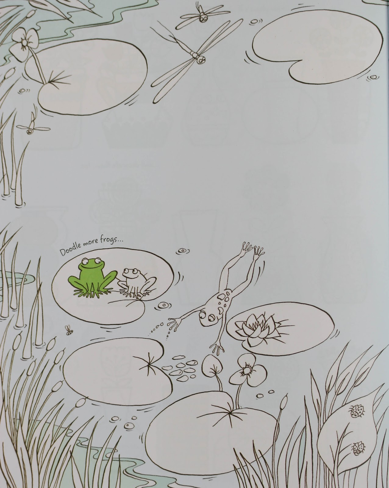 How To Draw Frog In Pond