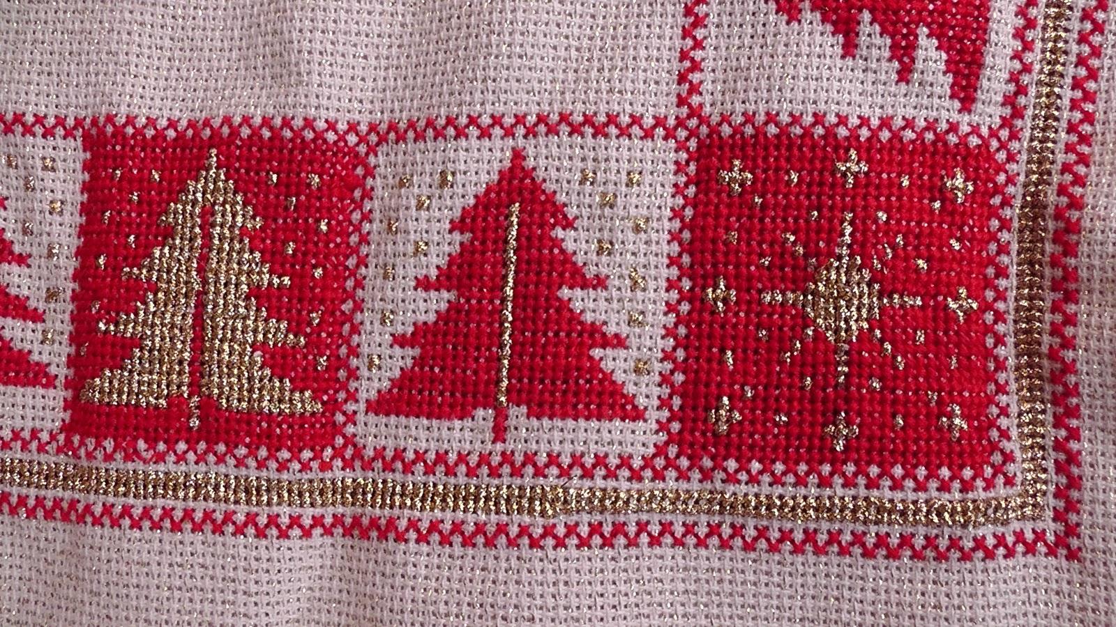 Κέντημα - χριστουγεννιάτικα μοτίβα