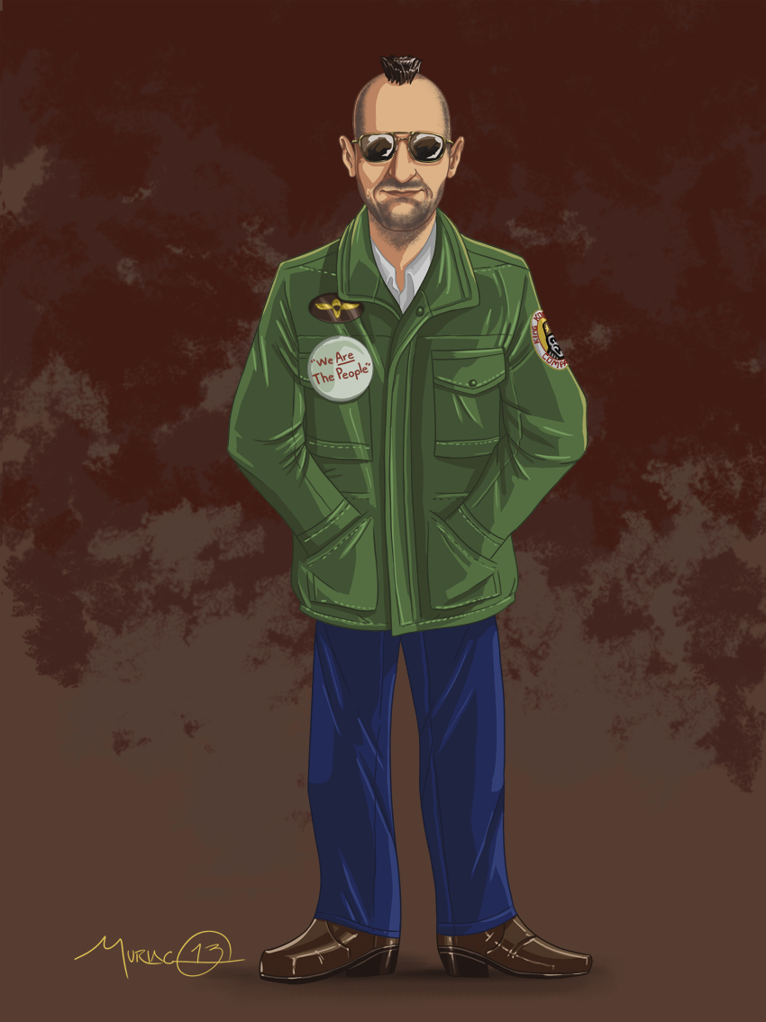 the characterization of travis bickle in Taxi driver robert de niro, jodie foster, cybill shepherd - director: martin scorsese - insomniac former marine travis bickle takes a night job driving a cab and.