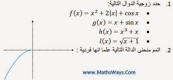 عموميات حول الدوال العددية جزء5 زوجية دالة