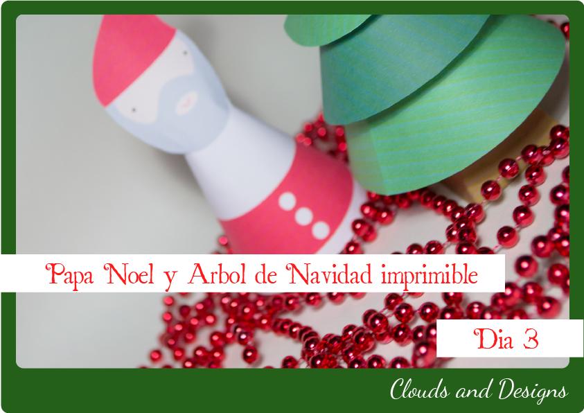 Adviento bloggero dia 3 Papá Noel Árbol Descargable