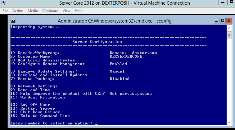 assign ip address server core