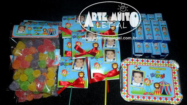 Convites de aniversário infantil e lembrancinhas Arte muito legal